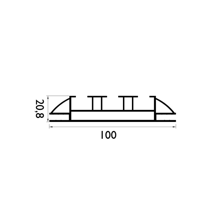 100 mm Çift Taraflı Profil Çizim