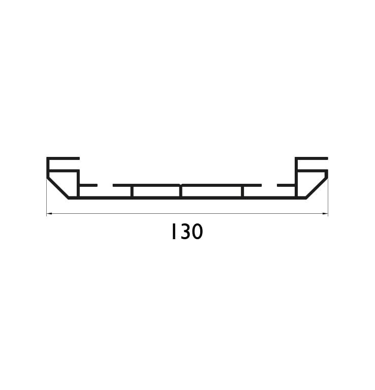 130 mm Çift Taraflı Profil Çizim