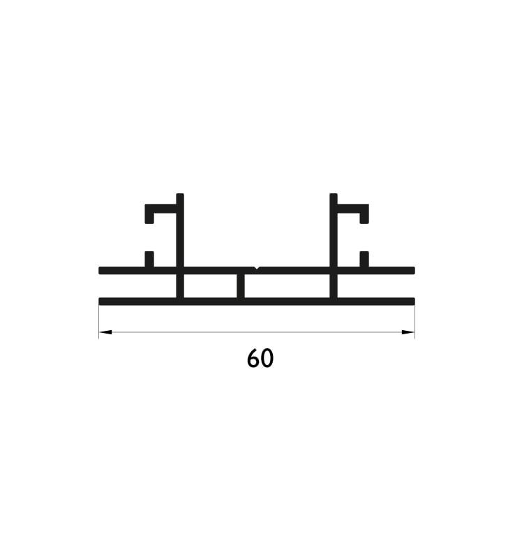 60 mm Çift Taraflı Profil Çizim