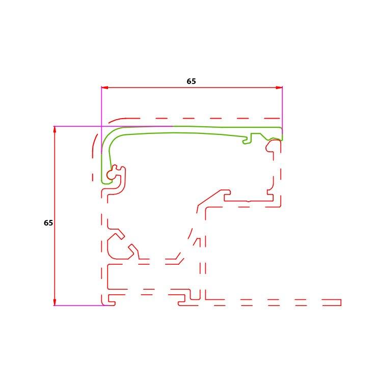 65 mm Vinil Profil Çizim Kapak