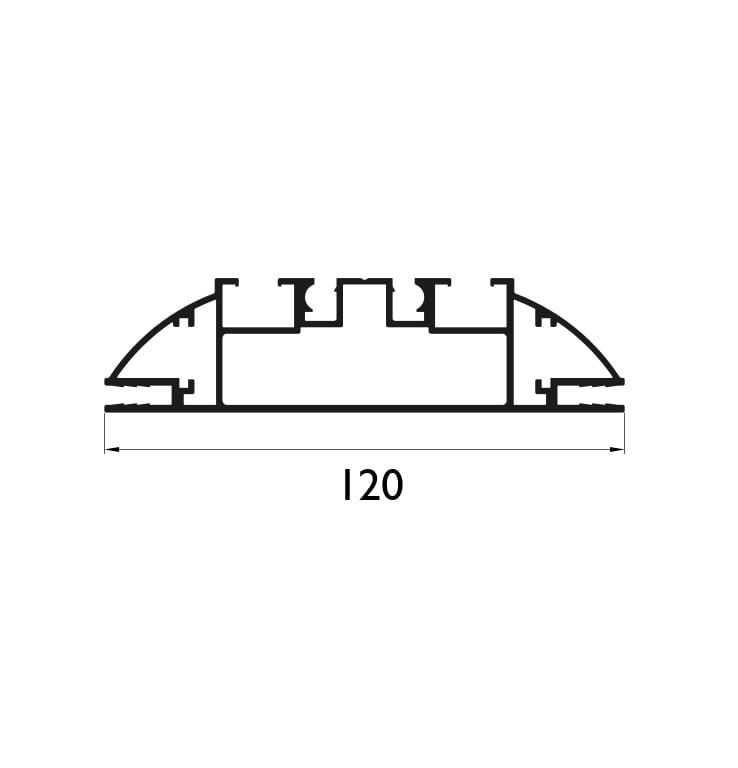 AJ 120 mm Profil Çizim